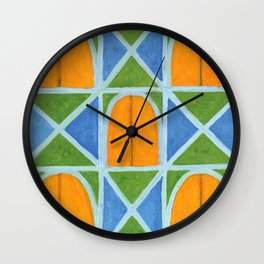 Lighted Arched Windows Pattern Wall Clock