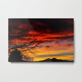 Fire Sunset Metal Print