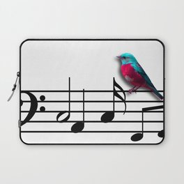 Bird on Music Sheet Laptop Sleeve