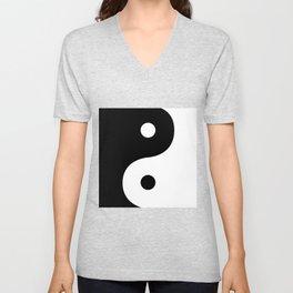 Yin And Yang Sides Unisex V-Neck
