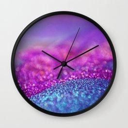 Colorful Purple Pink Glitter - Bokeh Lights Wall Clock