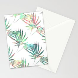 Palmetto Fronds Tropical Multicolor Pattern Stationery Cards