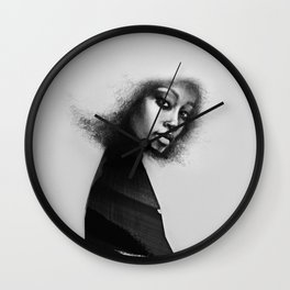 Portrait of a woman No.3 Wall Clock
