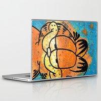 garfield Laptop & iPad Skins featuring Garfield by Brieana