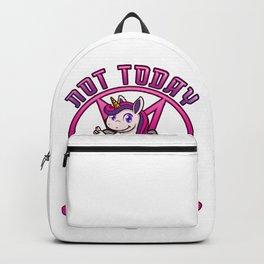 Not Today Jesus Evil Unicorn Women Humor Backpack
