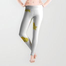 Star Fruit Drawing (Collage) Leggings