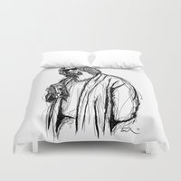 the dude Duvet Covers featuring The Dude by Tom Ledin