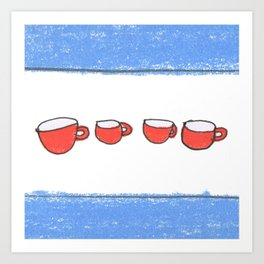 Chicago mugs Art Print