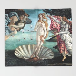 The Birth of Venus, Sandro Botticelli Throw Blanket
