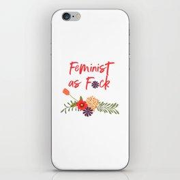 Feminist as F*ck (Censored Version) iPhone Skin