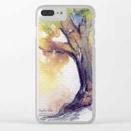 My Tree watercolor by CheyAnne Sexton Clear iPhone Case