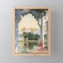Yoshida Hiroshi - Castles In Udaipur - Digital Remastered Edition Framed Mini Art Print