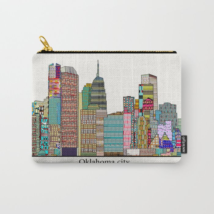 oklahoma city skyline Carry-All Pouch