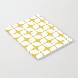 Mid Century Modern Star Pattern Yellow Notebook