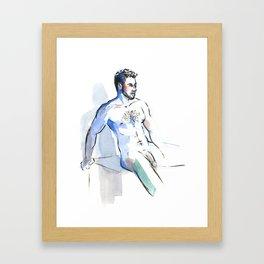 JESSE, Nude Male by Frank-Joseph Framed Art Print