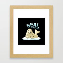 Seal of Approval Framed Art Print