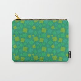 animal crossing grass pattern square spring Green Carry-All Pouch