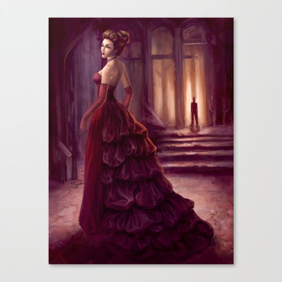 Don't Look Back - fantasy art Canvas Print