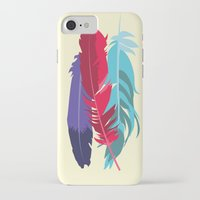 indie iPhone & iPod Cases featuring Indie Feathers  by Minette Wasserman