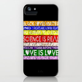 BLM-Science is Real 1 iPhone Case