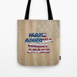 USA Flag MAKE AMERICA GREAT AGAIN typography Tote Bag