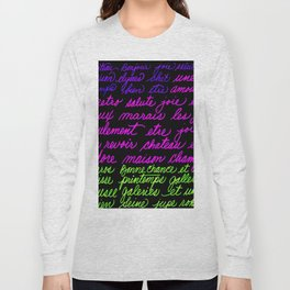 FRENCH LIST Long Sleeve T-shirt