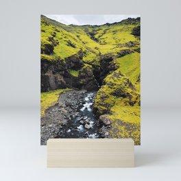 Green Iceland Scene II Mini Art Print