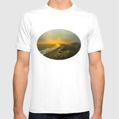 The evening as seen from the bluff  MEDIUM White Mens Fitted Tee