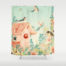 Vintage Summer Sanctuary Shower Curtain