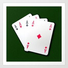 Poker of Aces Art Print