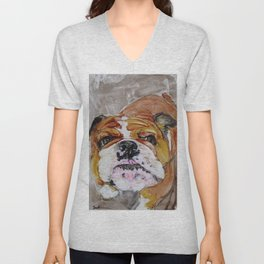 English Bulldog Love Unisex V-Neck