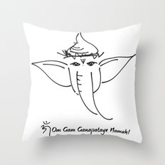 Ganesha, the Remover of Obstacles Throw Pillow