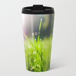 Dew drops in the morning Travel Mug