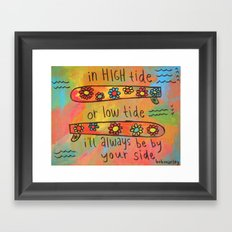 high tide low tide by your side painting Framed Art Print
