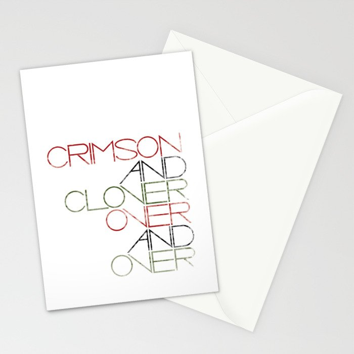 Crimson and Clover Over and Over Stationery Cards