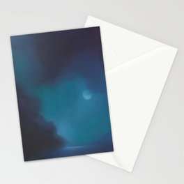 moody moon Stationery Cards