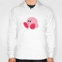 kirby Hoodies featuring Kirby Splatter ~ ☆ by Kiera Marie