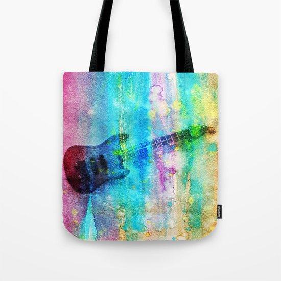 Rainbow Guitar Tote Bag