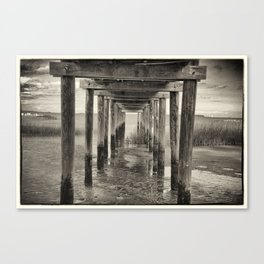 Under The Peir Canvas Print