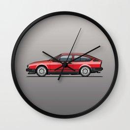Alfa Romeo GTV6 Red Wall Clock