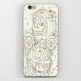 2 Headed Muerte  iPhone Skin