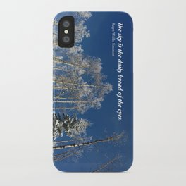 The sky is the daily bread of the eyes iPhone Case