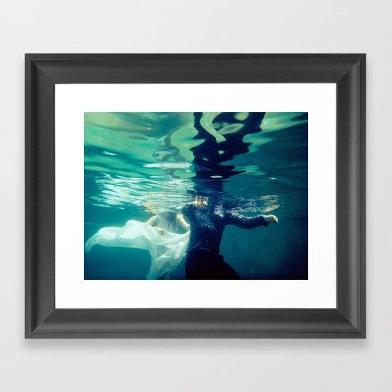 Chasing love Framed Art Print