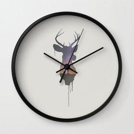 Deer Head V Wall Clock