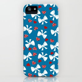 Lace gift wrap blue d iPhone Case