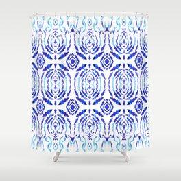 Magic Blue Pattern Shower Curtain