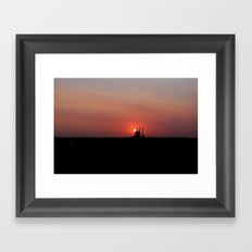 At The End of The Day... Framed Art Print