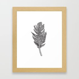 Sketched Feather Framed Art Print