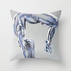 Bend Over Backwards Throw Pillow