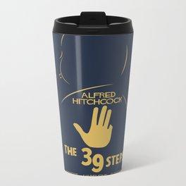 The 39 Steps - Alfred Hitchcock Movie Poster Metal Travel Mug